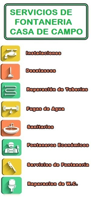 servicios de fontaneria en Casa de Campo