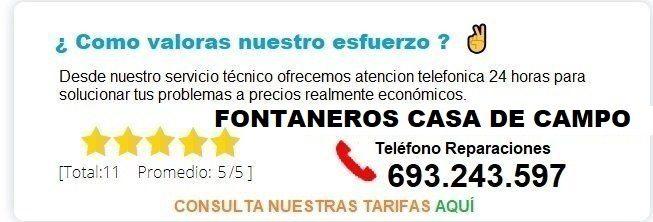 Fontanero Casa de Campo precio